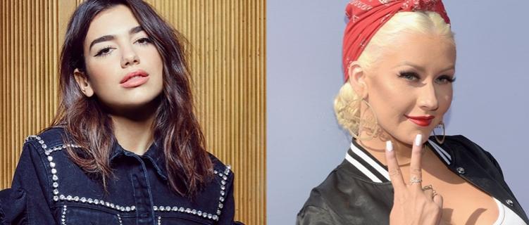 """Dua Lipa fala sobre Christina Aguilera: """"Ela era a cantora que me inspirava"""""""