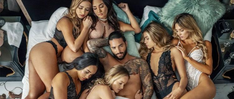 Maluma divulga nova música, Mala Mia, rodeado de mulheres