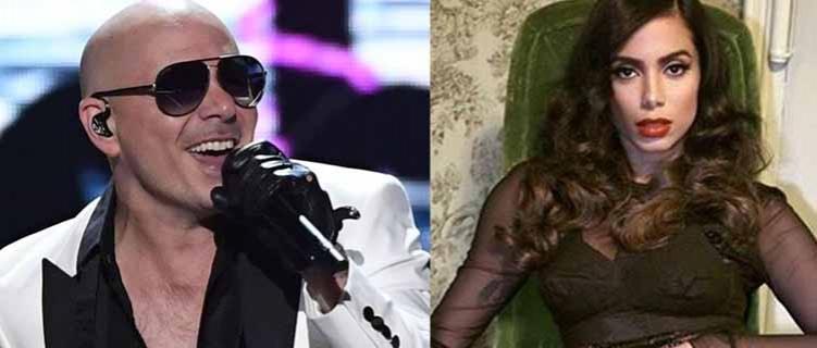 Pitbull diz que está conversando com Anitta para tentar parceria