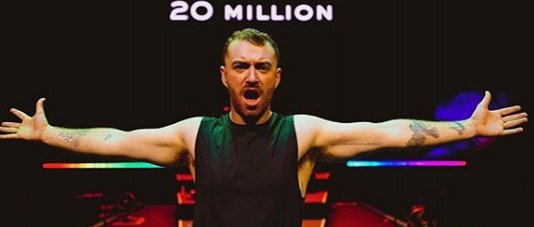 Sam Smith bate a marca de 20 milhões de álbuns vendidos!