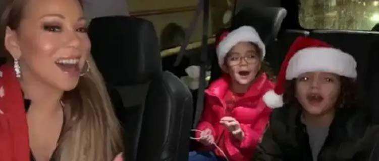 """Orgulhosa, Mariah Carey posta vídeo cantando com seus filhos gêmeos """"All I Want For Christmas"""""""